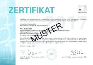 Musterzertifikat 2017