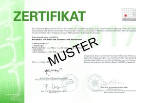 Muster Zertifikat